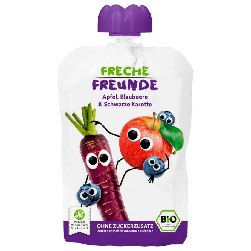 Erdbär Freche Freunde Bio Apfel, Blaubeere & schwarze Karotte 100g