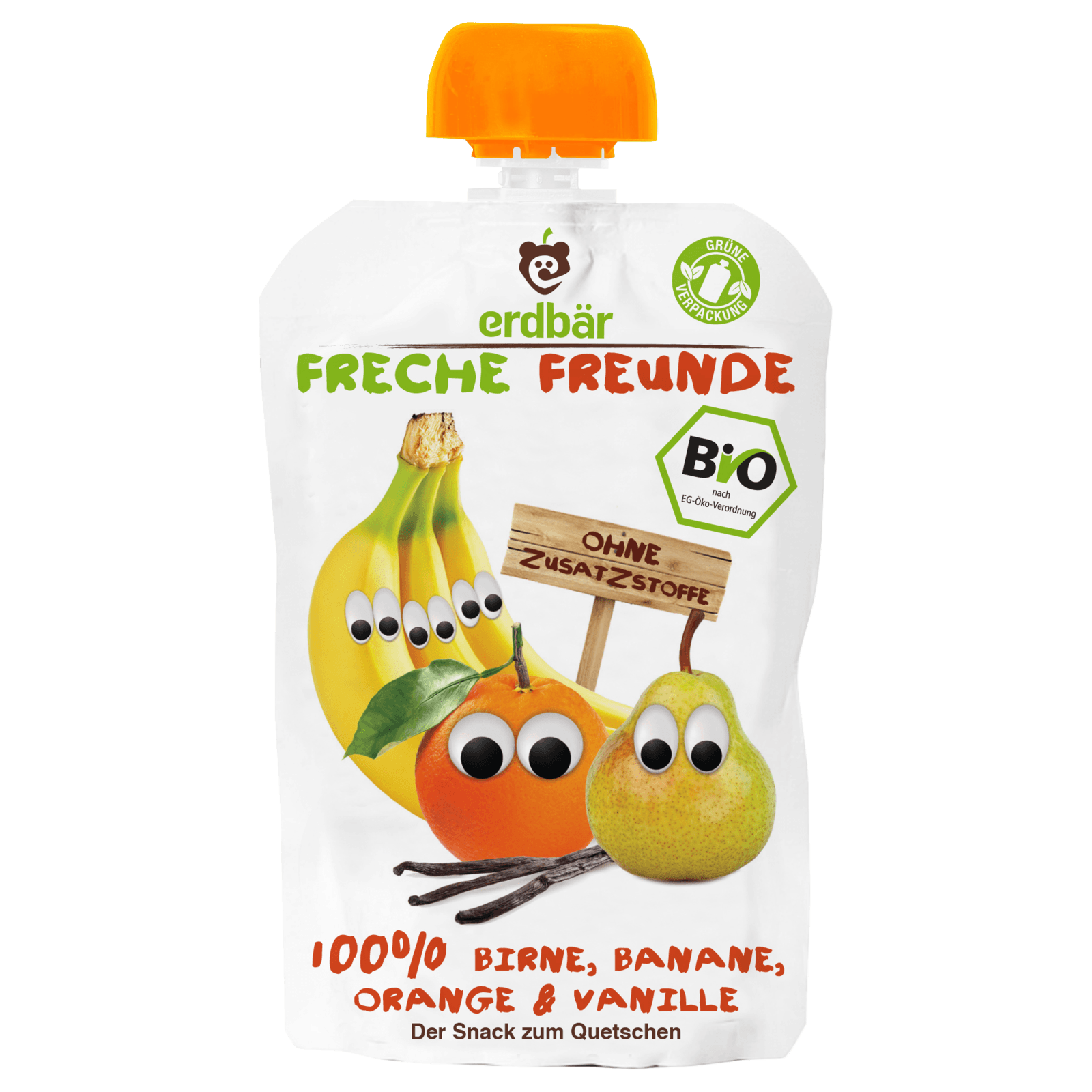 Erdbär Freche Freunde Birne, Banane, Orange, Vanille 100g