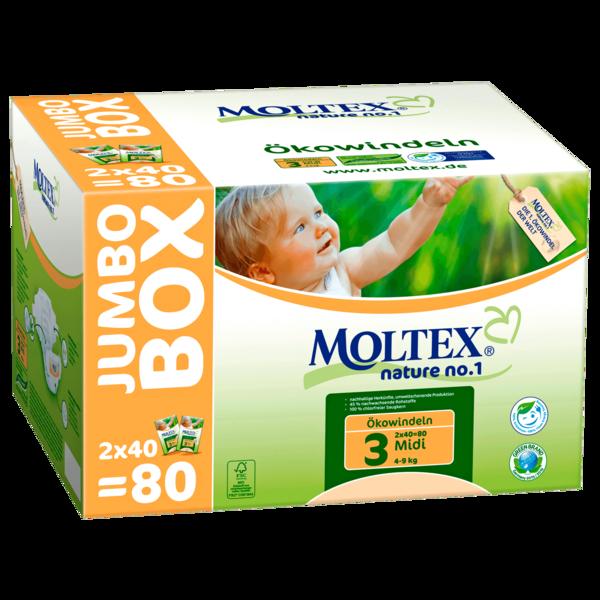 Moltex Nature No.1 Midi Jumbo 80 Stück
