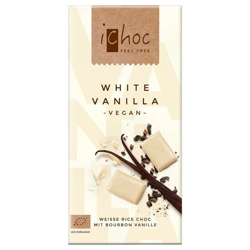 iChoc Bio Schokolade White Vanilla vegan 80g