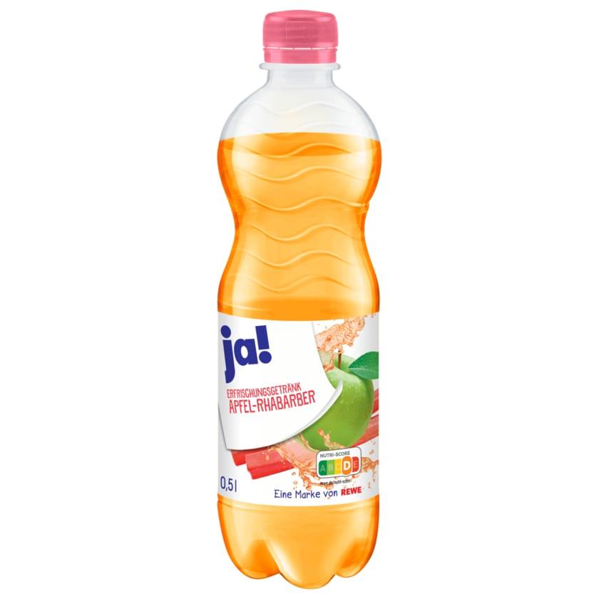 ja! Erfrischungsgetränk Apfel-Rhabarber 0,5l
