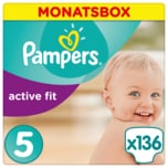 Pampers Active Fit Gr. 5 Junior 11-23kg Monatsbox 136 Stück
