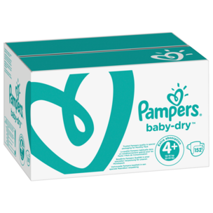 Pampers Baby Dry Gr. 4+ Maxi Plus 9-20kg Monatsbox 152 Stück