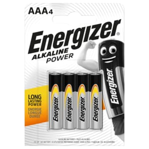 Energizer Alkaline Power AAA Micro 4er