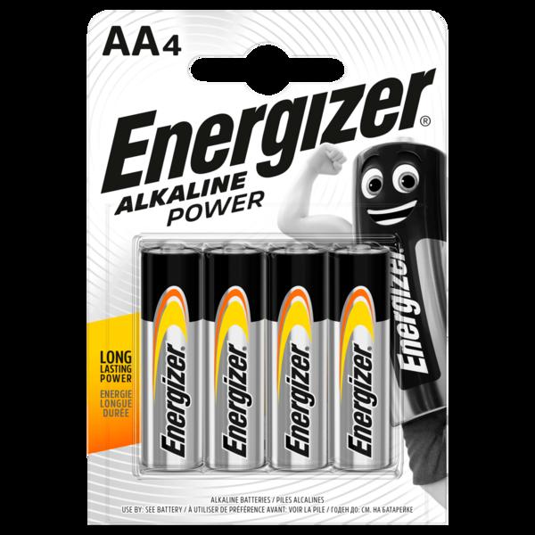 Energizer Alkaline Power Mignon-Batterien AA 4 Stück
