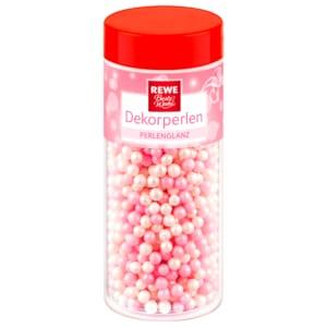 REWE Beste Wahl Dekorperlen Perlenglanz rosa-weiß 75g