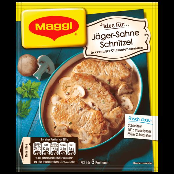 Maggi Fix für Jäger-Sahne Schnitzel 27g