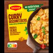 Maggi Fix für Curry Geschnetzeltes - mit Sahne in würzig cremiger Soße – cremig würzig - Klassiker - 41g