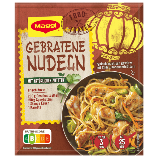 Maggi Fix für Gebratene Nudeln mit Chili, Ingwer & Koriander 26g