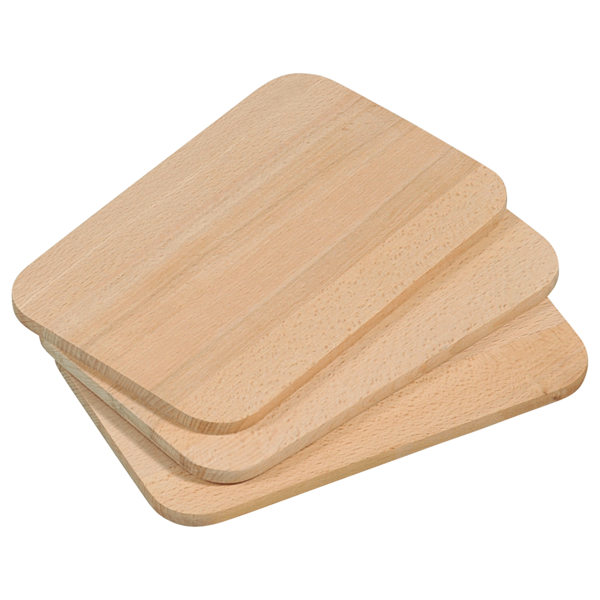 Frühstücksbrettchen, 3er Pack, FSC®-zertifiziertes Buchenholz, Maße: 23 x 15 x 1 cm