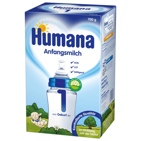 Humana Anfangsmilch 1 LCP+GOS 700g