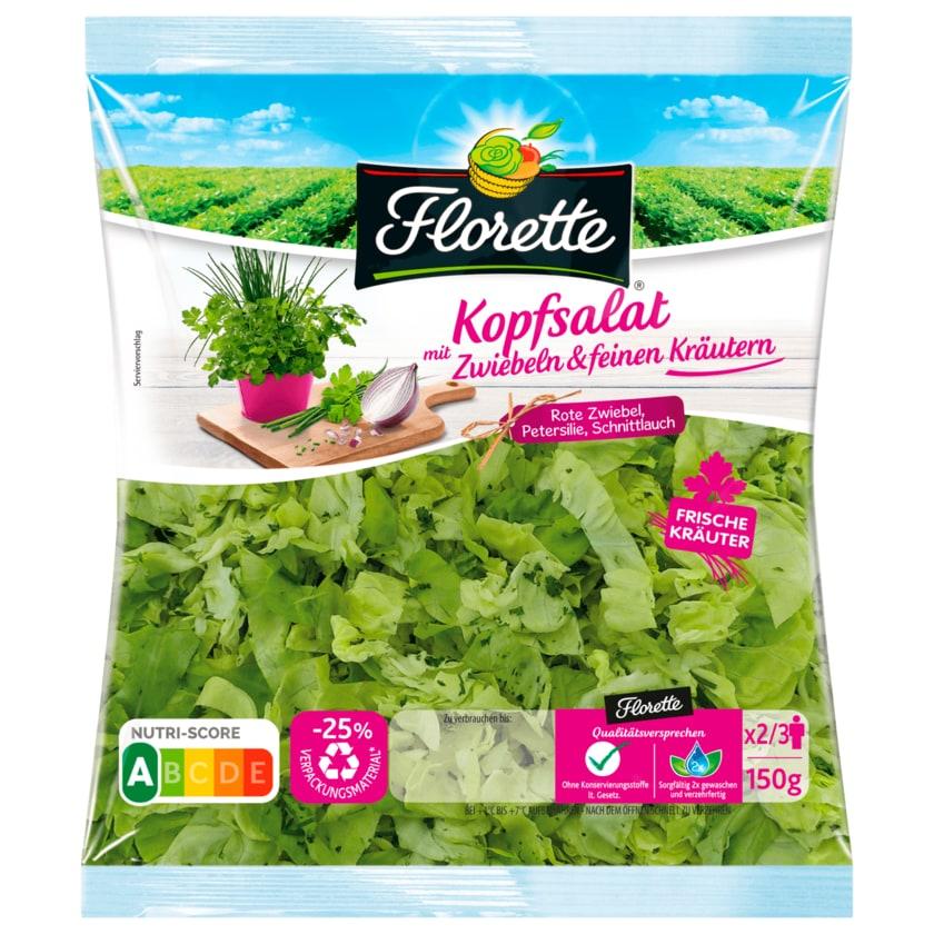 Florette Kopfsalat mit Zwiebeln und feinen Kräutern 150g