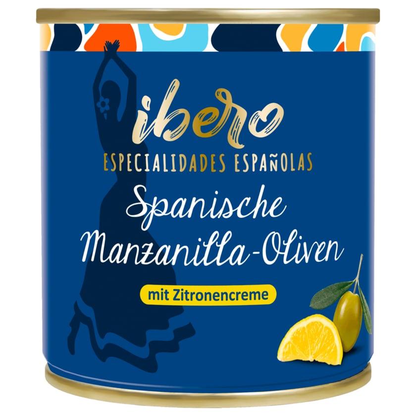 Ibero Spanische Manzanilla-Oliven mit Zitronencreme 85g