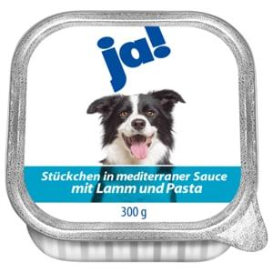 ja! Hundefutter mit Lamm, Pasta & mediterraner Sauce 300g