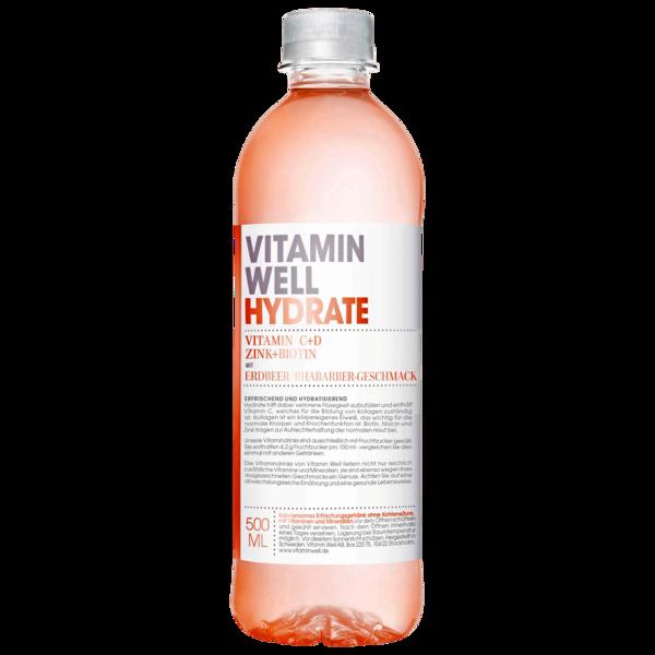 Vitamin Well Hydrate Erdbeer & Rhabarber 0,5l