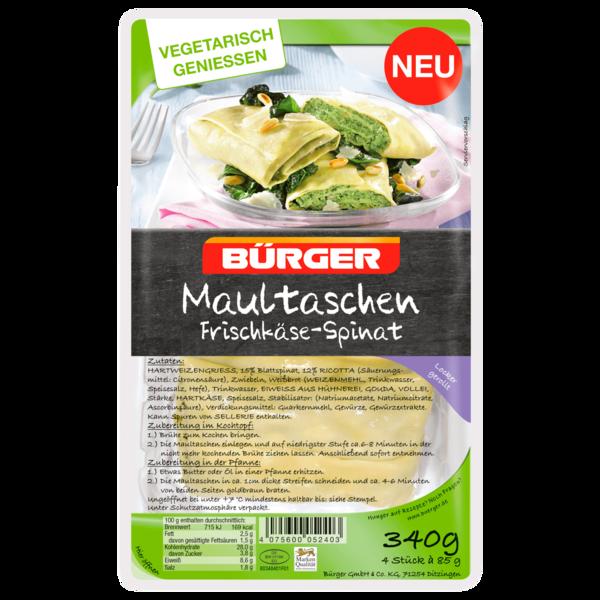 Bürger Maultaschen Frischkäse-Spinat 4x85g