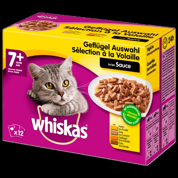 Whiskas 7+ Geflügelauswahl in Sauce 12x100g