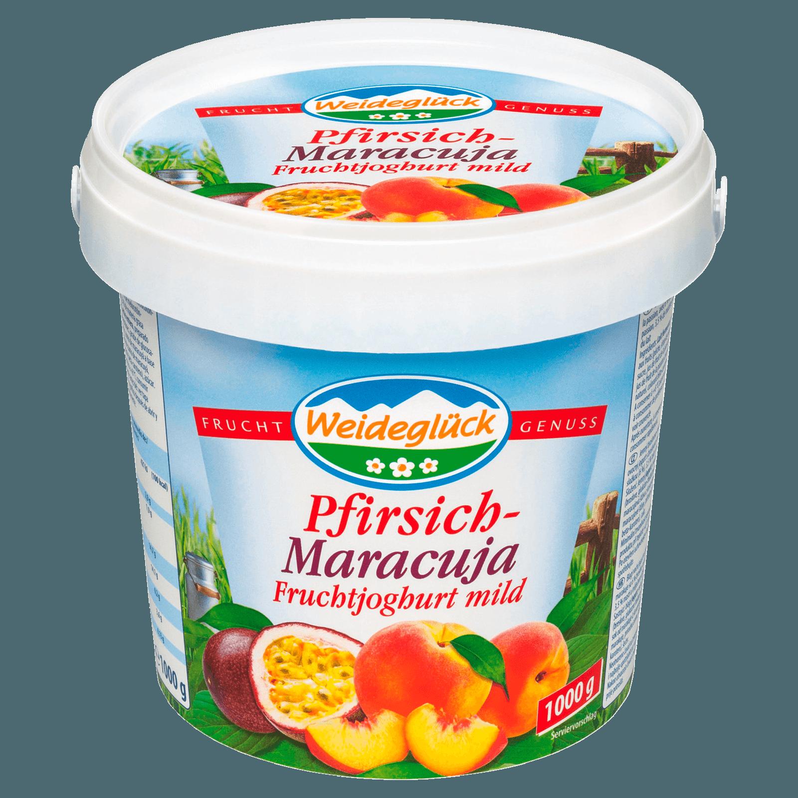 Weideglück Fruchtjoghurt Pfirsich-Maracuja 1kg