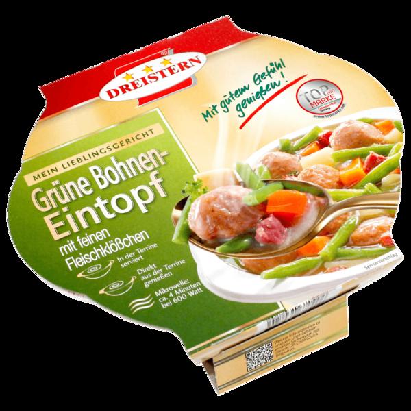 Dreistern Grüne Bohnen-Eintopf mit feinen Fleischklößchen Terrine 400g