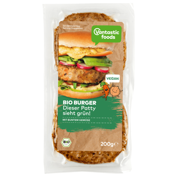 Vantastic Foods Bio Gemüse-Burger 200g