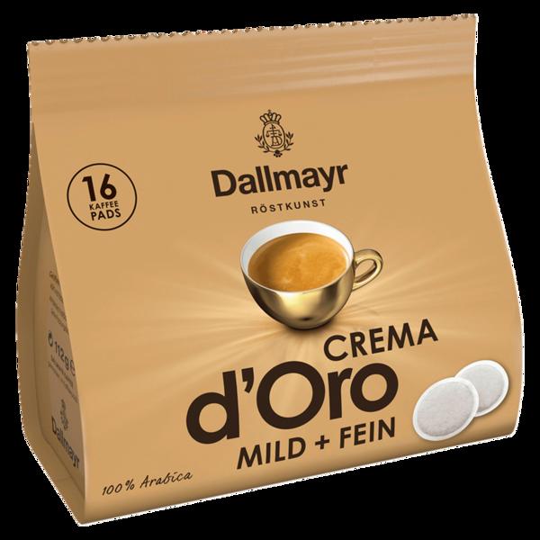 Dallmayr Crema d'Oro mild & fein 112g, 16 Pads
