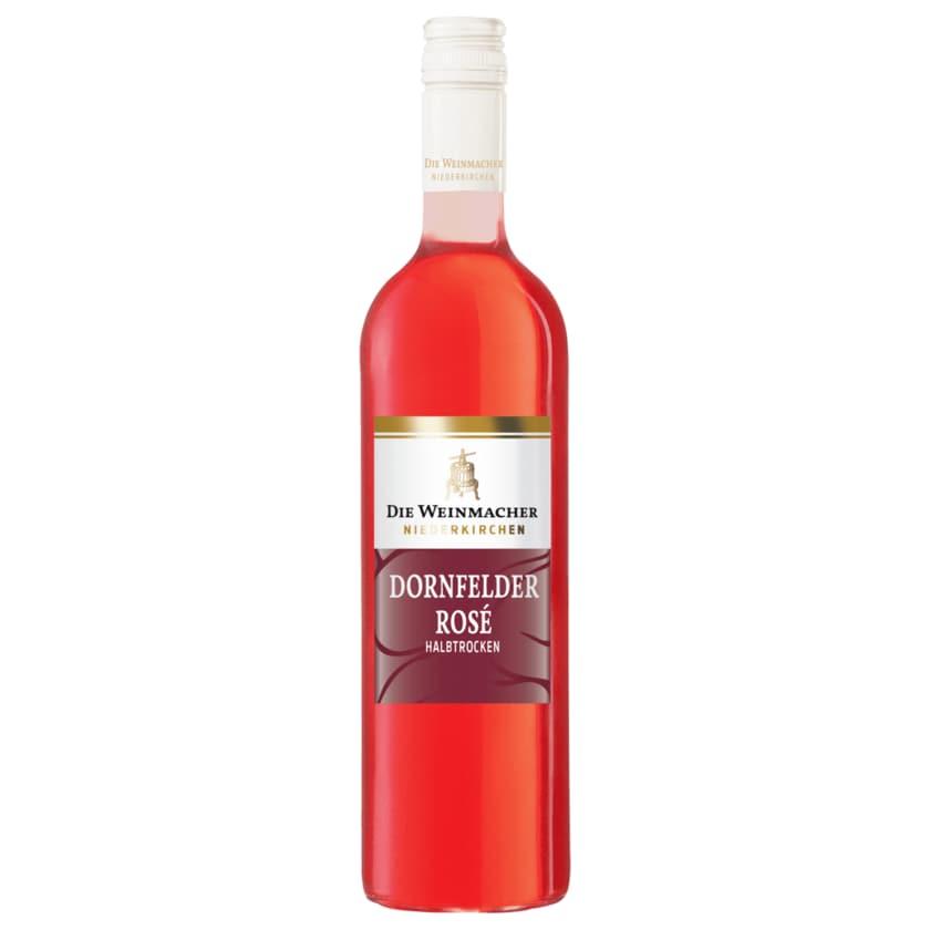 Die Weinmacher Roséwein Dornfelder QbA halbtrocken 0,75l