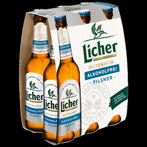Licher Isotonisch Pils alkoholfrei 6x0,33l