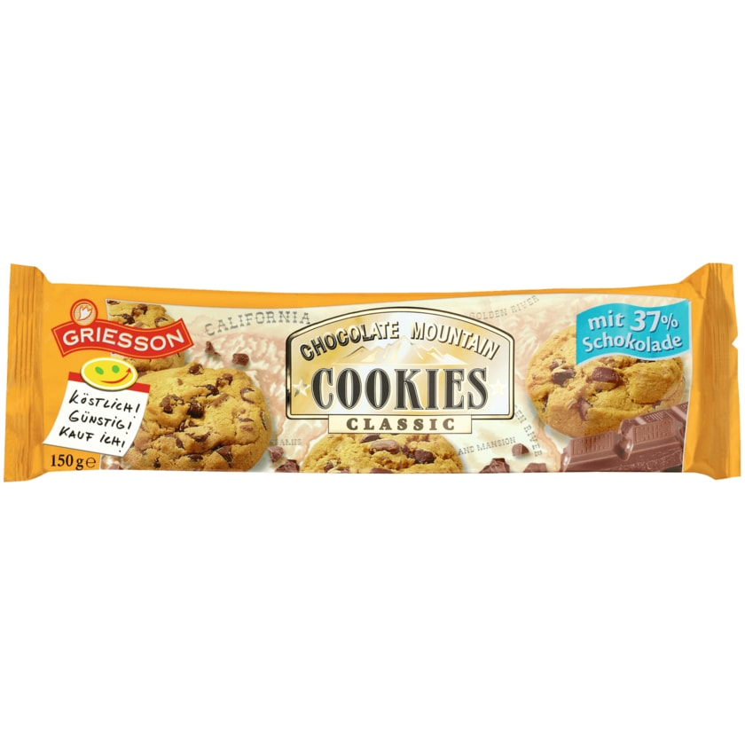 Griesson Chocolate Mountain Cookies Classic 150g