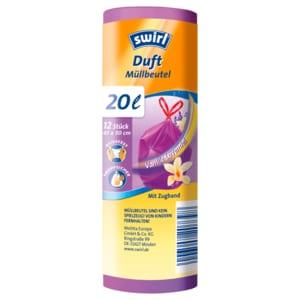 Swirl Duft-Müllbeutel Vanille-Lavendel 20l, 12 Stück