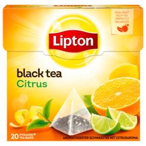 Lipton Schwarzer Tee Citrus Pyramidenbeutel 36g, 20 Stück