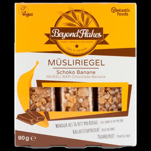 Vantastic Foods Beyond Flakes Müsliriegel Schoko-Banane 90g, 3 Stück