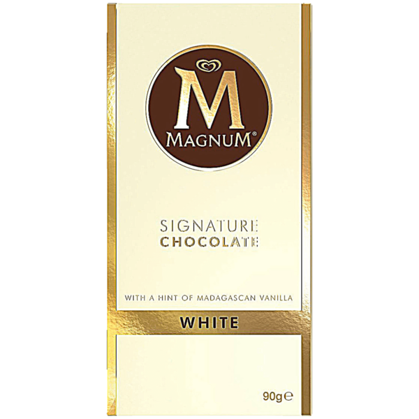 Magnum Signature Chocolate White Tafel 90g