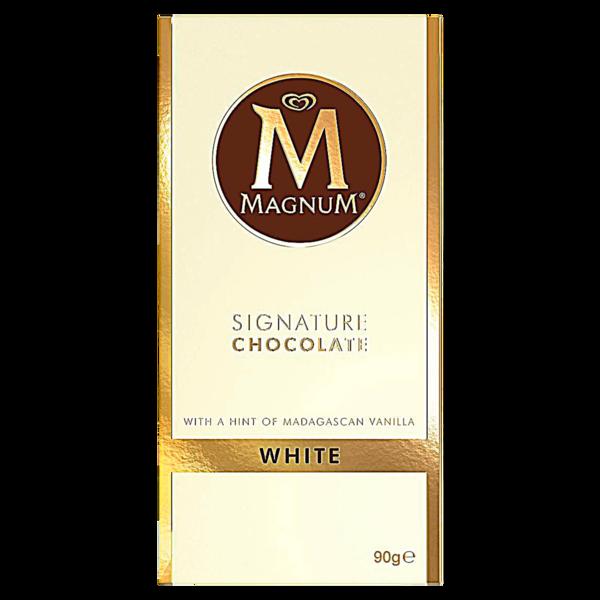 Magnum Signature Chocolate White Tafel 90g