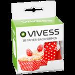 Vivess Papier-Backformen 10 Stück