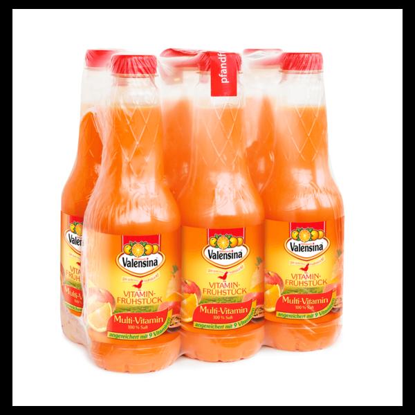 Valensina Vitamin-Frühstück Multi-Vitamin 6x1l