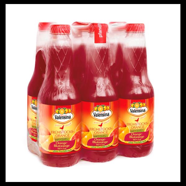 Valensina Frühstücks-Orange Blutorange 6x1l