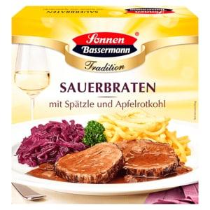 Sonnen Bassermann Sauerbraten mit Spätzle und Apfelrotkohl 480g