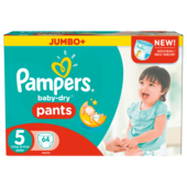 Pampers Baby Dry Pants Gr.5 Junior 12-17kg Jumbo Plus Pack 64 Stück