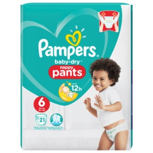 Pampers Baby Dry Pants Gr. 6 Extra Large 16+kg 21 Stück