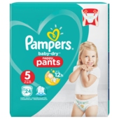 Pampers Baby Dry Pants Gr.5 Junior 12-17kg Sparpack 24 Stück