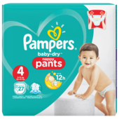 Pampers Baby Dry Pants Gr.4 Maxi 9-15kg Sparpack 27 Stück