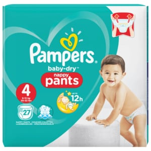 Pampers Baby dry Pants Maxi 27 Stück