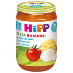 Hipp Pasta Bambina Spaghetti Tomate-Mozzarella 220g