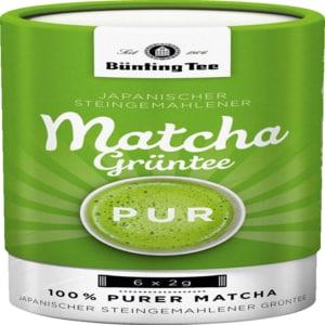 Bünting Tee Matcha Grüntee Pur 12g
