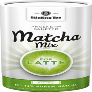 Bünting Tee Matcha Mix for Latte 6x10g