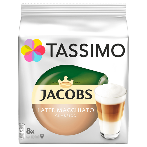 Tassimo Kaffeekapseln Jacobs Latte Macchiato Classico 264g, 8 Kapseln