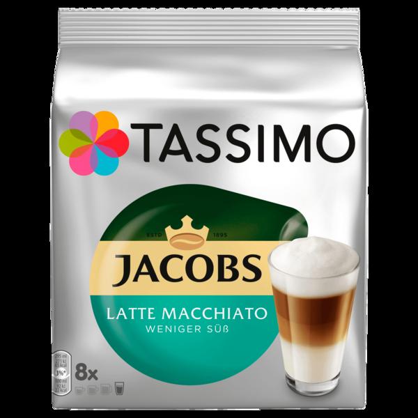 Tassimo Jacobs Latte Macchiato weniger süß 236g, 8 Kapseln