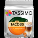 Tassimo Jacobs Latte Macchiato Caramel 268g, 8+8 Kapseln