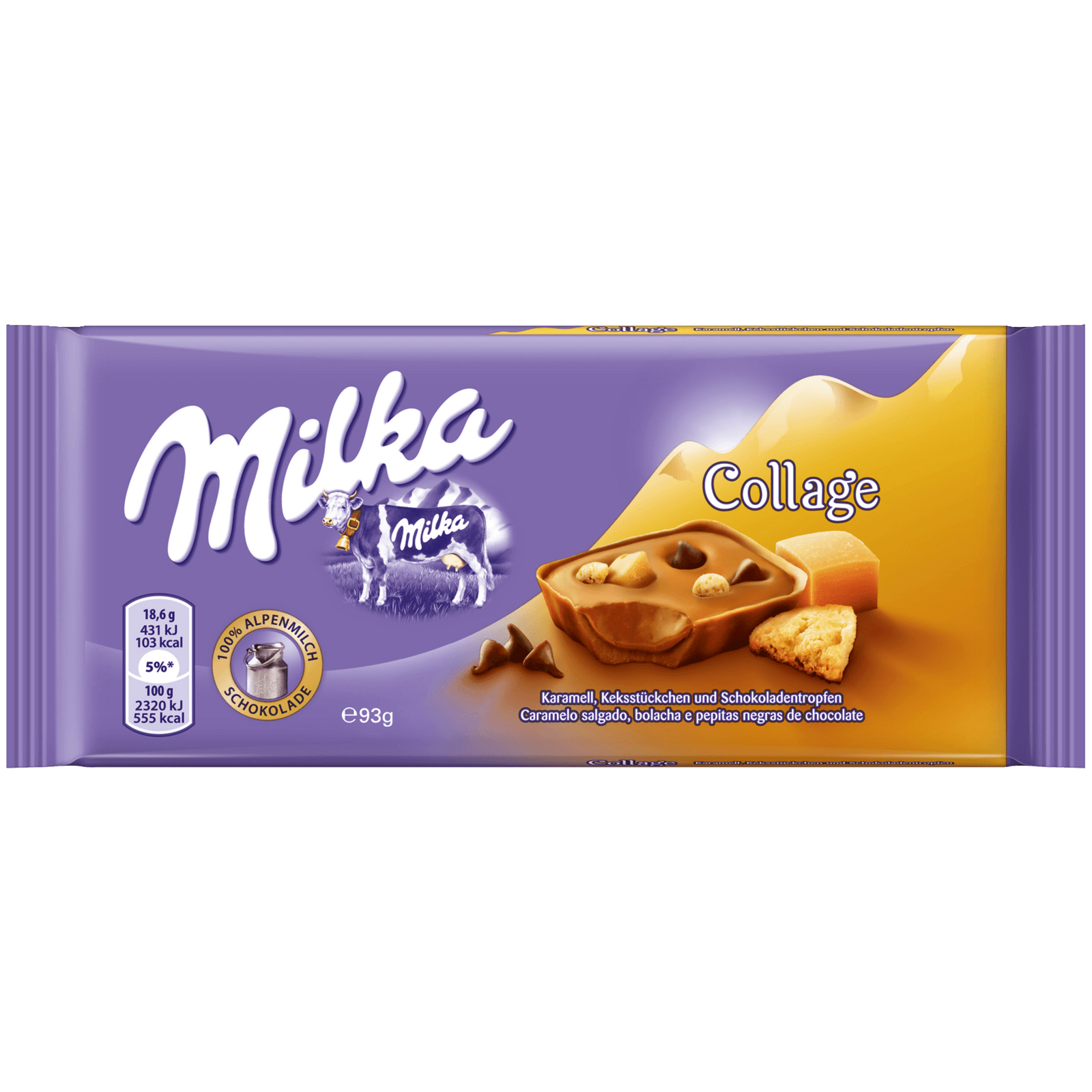 Milka Tafel Collage Karamell 93g