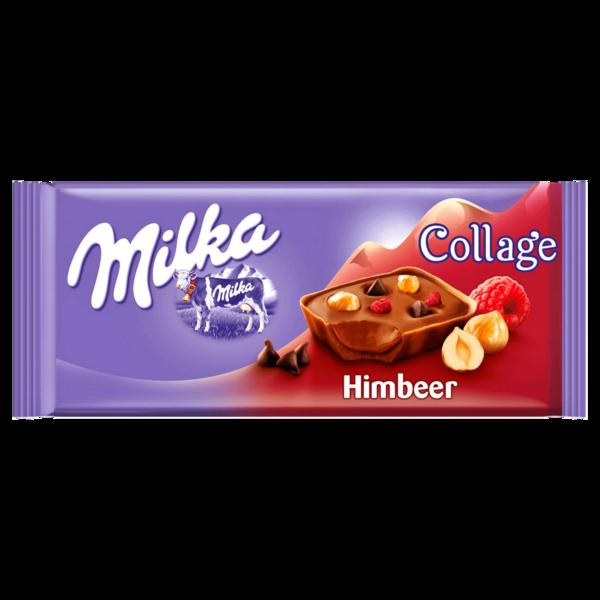 Milka Tafel Collage Himbeere 93g